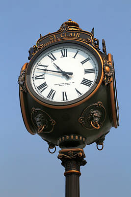 Photograph - Saint Clair Clock Tower 2 by Mary Bedy