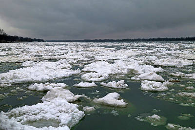 Photograph - Saint Clair River Thaw 2017 by Mary Bedy