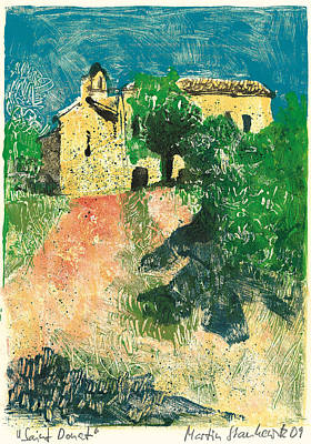 Art Print featuring the painting Saint Donat Provence by Martin Stankewitz