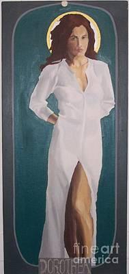 Painting - Saint Dorothea by Stephen Panoushek