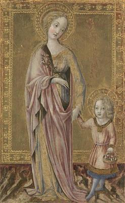 Digital Art - Saint Dorothy And The Infant Christ by Francesco di Giorgio