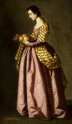 Painting - Saint Dorothy by Francisco de Zurbaran