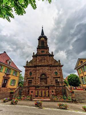 Photograph - Saint-erasme Church And Ww1 Memorial, Uffholtz, Alsace, France by Elenarts - Elena Duvernay photo