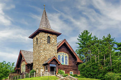 Photograph - Saint Eustace Episcopal Church Lake Placid  -  1927steustaceepiscopal172559 by Frank J Benz