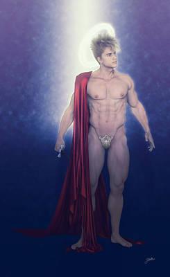 Holy Digital Art - Saint Faust Illuminated by Joaquin Abella