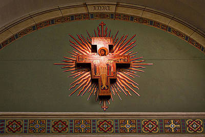 Deconstructed Photograph - Saint Francis Cathedral Crucifix - Santa Fe by Stuart Litoff