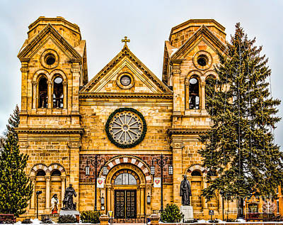 Photograph - Saint Francis Cathedral by Jon Burch Photography