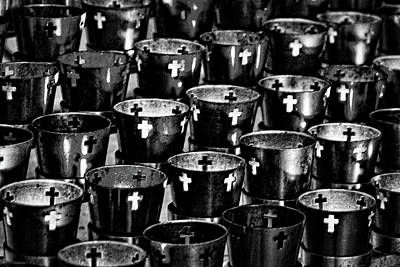 Photograph - Saint Francis Cathedral Votive Candles #2 by Stuart Litoff