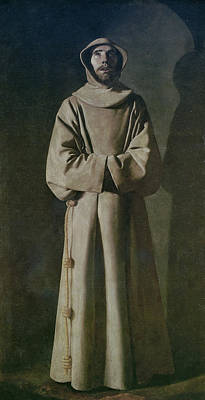 Priest Painting - Saint Francis by Francisco de Zurbaran