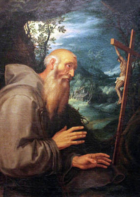 Saint Francis Art Print by Munir Alawi