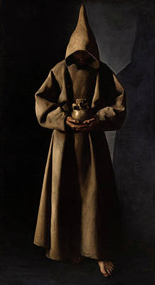 Assisi Wall Art - Painting - Saint Francis Of Assisi In His Tomb by Francisco de Zurbaran