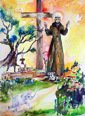 Painting - Saint Francis Of Assisi Italy  by Ginette Callaway