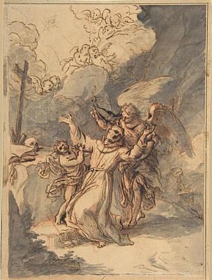 Drawing - Saint Francis Receiving The Stigmata by Antonio de Pereda
