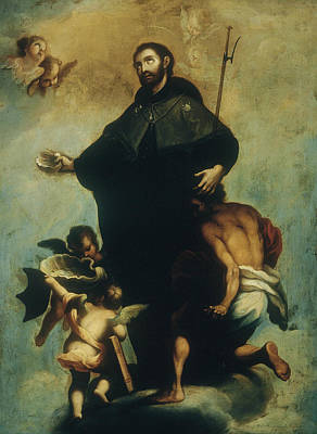 Mexican Art Painting - Saint Francis Xavier by Miguel Cabrera