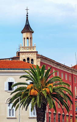 Photograph - Saint Franje, Francis, Church Near The Old Market Square, Split, Croatia by Elenarts - Elena Duvernay photo