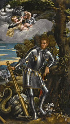 Painting - Saint George And The Dragon by Antonio Badile