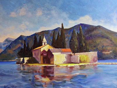 Montenegro Painting - Saint George Island In Montenegro by Rok Lekaj