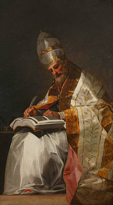 Great Master Painting - Saint Gregory The Great, Pope by Francisco Goya