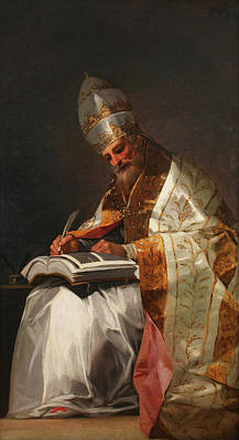 Seated Painting - Saint Gregory The Great, Pope by Francisco Goya