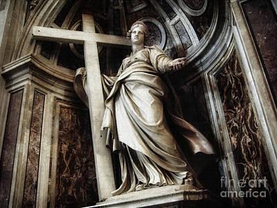 Photograph - Saint Helena Statue Inside Saint Peter S Basilica Rome Italy by Daliana Pacuraru