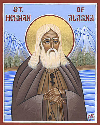Greek Icon Painting - Saint Herman Of Alaska by Michael Courey