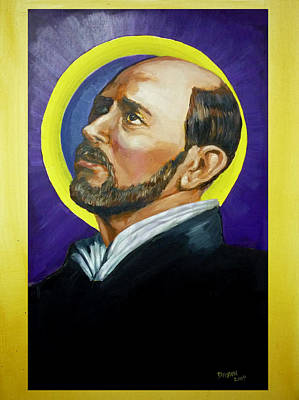 Art Print featuring the painting Saint Ignatius Loyola by Bryan Bustard