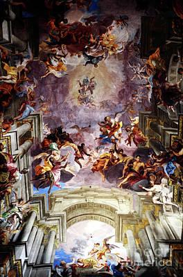 Photograph - Saint Ignatius Loyola Ceiling by John Rizzuto