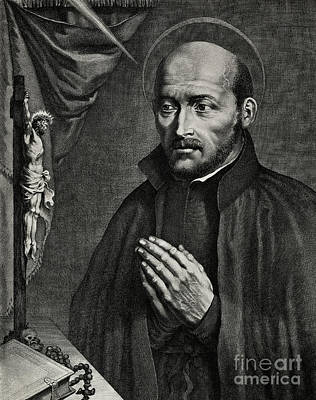 Religious Icon Drawing - Saint Ignatius Of Loyola by German School
