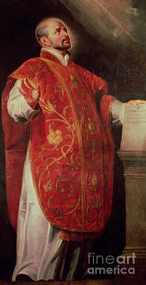 Theologians Painting - Saint Ignatius Of Loyola by Peter Paul Rubens