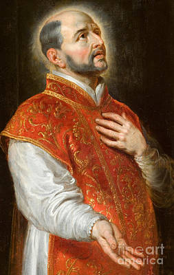 Devotional Painting - Saint Ignatius by Peter Paul Rubens