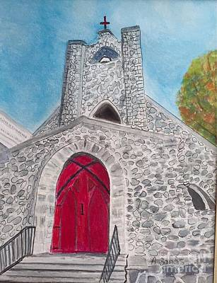 Painting - Saint James Episcopal Church by Anne Sands