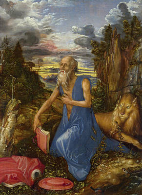 Jer Painting - Saint Jerome by Albrecht Durer