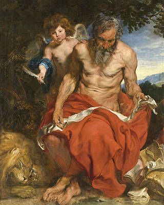 Painting - Saint Jerome  by Anthony van Dyck