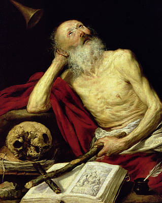 Crucifix Painting - Saint Jerome by Antonio Pereda y Salgado