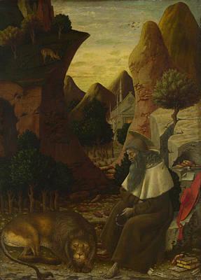 Bono Digital Art - Saint Jerome In A Landscape by Bono da Ferrara