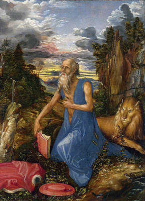 Painting - Saint Jerome In The Wilderness  by Albrecht Durer