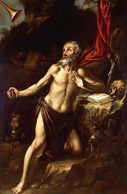Valdes Painting - Saint Jerome by Juan de Valdes Leal