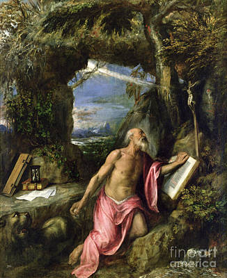 Titian Painting - Saint Jerome by Titian