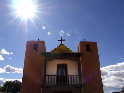 Saint Jeromes Chapel Taos Pueblo Art Print by Kurt Van Wagner