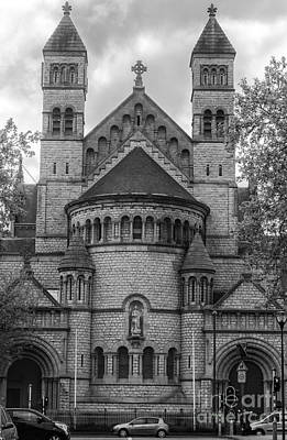 Belguim Wall Art - Photograph - Saint John Berchmans Church Brussels Bw by Bouquet  Of arts