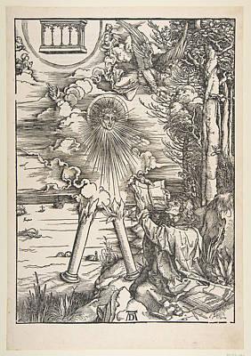 Drawing - Saint John Devouring The Book by Albrecht Duerer
