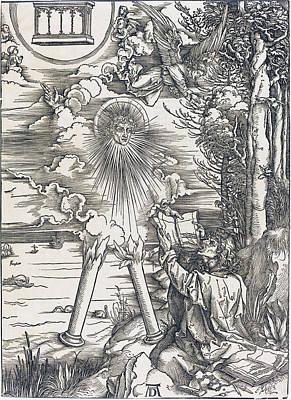 Drawing - Saint John Devouring The Book by Albrecht Durer