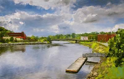 Eduardo Tavares Digital Art Royalty Free Images - Saint John River Painting Royalty-Free Image by Eduardo Tavares