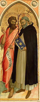 Painting - Saint John The Baptist And Saint Dominic by Fra Angelico