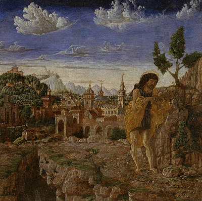 Baptist Painting - Saint John The Baptist In A Landscape by Giovanni Corente