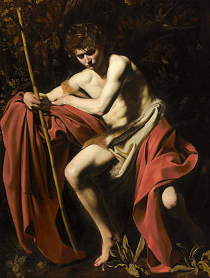 Baptist Painting - Saint John The Baptist In The Wilderness by Caravaggio