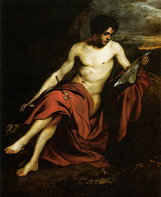 Digital Art - Saint John The Baptist In The Wilderness by Sir Antony van Dyck