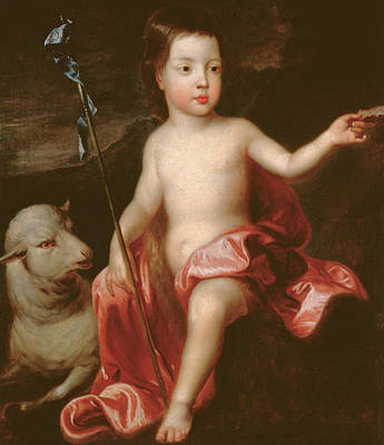 Kneller Painting - Saint John The Baptist In The Wilderness by Sir Godfrey Kneller