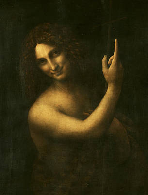 Baptist Painting - Saint John The Baptist by Leonardo da Vinci