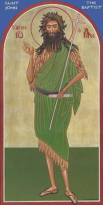 Greek Icon Painting - Saint John, The Baptist by Michael Courey